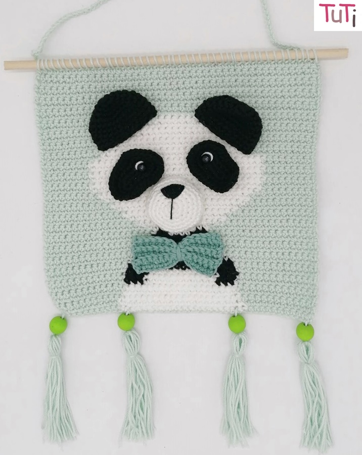 Oso Panda amigurumi tutorial - YouTube | 900x716