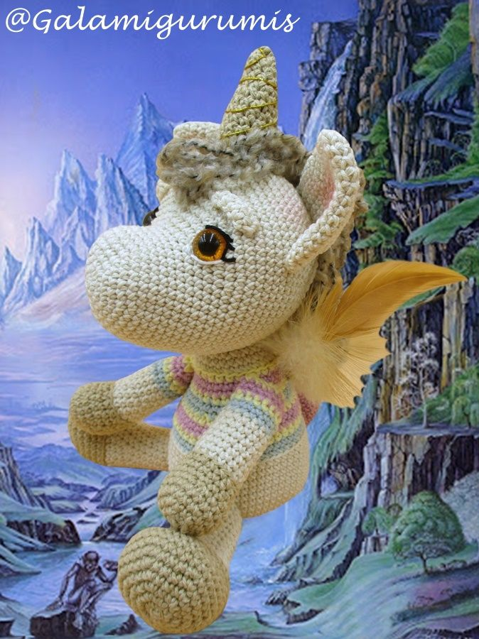 CROCHET PATTERN in English and Spanish - Mimi the Friendly Unicorn ... | 900x674